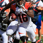 Cincinnati Bengals wide receiver Andrew Hawkins runs for a touchdown in the second half of an NFL football game against the Cleveland Browns, Sunday, Sept. 16, 2012, in Cincinnati. (AP Photo …