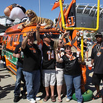 Cincinnati Bengals fans tail gate outside Paul  Brown Stadium prior to an NFL football game between the Bengals and the Cleveland Browns, Sunday, Sept. 16, 2012, in Cincinnati. (AP Photo/Tom …