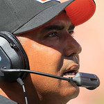 Cincinnati Bengals head coach Marvin Lewis watches from the sidelines in the second half of an NFL football game against the Cleveland Browns, Sunday, Sept. 16, 2012, in Cincinnati. (AP Phot …