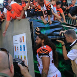 Cincinnati Bengals defensive tackle Domata Peko (94) leaves the field after an NFL football game against the Cleveland Browns, Sunday, Sept. 16, 2012, in Cincinnati. (AP Photo/David Kohl)