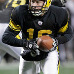 Pittsburgh Steelers backup quarterback Charlie Batch (16) looks to hand off during the second quarter of an NFL football game against the Cleveland Browns in Pittsburgh, Thursday, Dec. 8, 20 …
