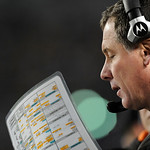 Cleveland Browns head coach Pat Shurmur on the sideline of the NFL football game against the Pittsburgh Steelerson Thursday, Dec. 8, 2011, in Pittsburgh. (AP Photo/Don Wright)