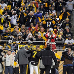 Pittsburgh Steelers quarterback Ben Roethlisberger (7) is helped from the field after being injured in the second quarter of an NFL football game against the Cleveland Browns on Thursday, De …