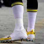 Pittsburgh Steelers quarterback Ben Roethlisberger walks along the sideline with his left ankle taped in the third quarter of the Steelers' NFL football game against the Cleveland Browns on  …