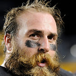 Pittsburgh Steelers defensive end Brett Keisel on the field following an NFL Football game against the Cleveland Browns Thursday, Dec. 8, 2011, in Pittsburgh. Pittsburgh won 14-3. (AP Photo/ …