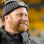Pittsburgh Steelers nose tackle Chris Hoke on the field following an NFL Football game against the Cleveland Browns Thursday, Dec. 8, 2011, in Pittsburgh. Pittsburgh won 14-3. (AP Photo/Don  …