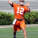 Browns QB Colt McCoy throws a pass at minicamp in Berea June 10.  Steve Manheim
