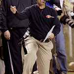 San Francisco 49ers head coach Jim Harbaugh reacts to a call during the second half of the NFL football NFC Championship game Sunday, Jan. 20, 2013, in Atlanta. The 49ers won 28-24 to advanc …