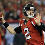 Atlanta Falcons quarterback Matt Ryan passes the ball during the first half of the NFL football NFC Championship game against the San Francisco 49ers Sunday, Jan. 20, 2013, in Atlanta. (AP P …
