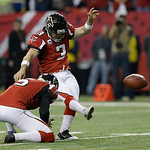 Atlanta Falcons' Matt Bryant kicks the extra point during the first half of the NFL football NFC Championship game against the San Francisco 49ers Sunday, Jan. 20, 2013, in Atlanta. (AP Phot …