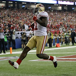 San Francisco 49ers' Frank Gore breaks away for a five-yard touchdown run during the second half of the NFL football NFC Championship game against the Atlanta Falcons Sunday, Jan. 20, 2013,  …