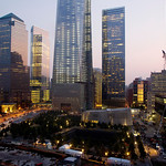 The National September 11 Memorial and Museum is ringed by skyscrapers Wednesday in New York. Ceremonies will be held Wednesday at the memorial to mark the 12th anniversary of the 2001 terro …