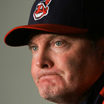 Cleveland Indians manager Eric Wedge pauses during a news conference Wednesday, Sept. 30, 2009, in Cleveland. Wedge was fired Wednesday, but will manage the rest of the baseball season. (AP  …