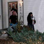 Larimer County Sheriff Department officers remove several boxes and a computer while executing a search warrant on the Richard Heene home Sunday, Oct. 18, 2009 in Fort Collins, Colo. (AP Pho …