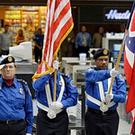 A TSA color guard takes part in a ceremony at Cleveland Hopkins Airport Wednesday marking the 12th anniversary of the 9/11 terror attacks. (AP Photo/Mark Duncan)