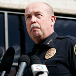 Larimer County Sheriff Jim Alderden speaks at a news conference in Fort Collins, Colo., Sunday, Oct. 18, 2009. Alderden said it was hoax when parents reported that their 6-year-old son was i …